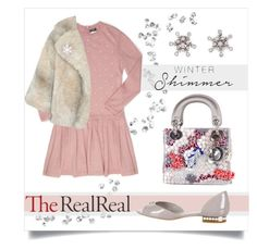 """Holiday Sparkle With The RealReal: Contest Entry"" by collagette ❤ liked on Polyvore featuring Chanel, A.W.A.K.E., Christian Dior and Mikimoto"