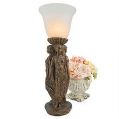 Three Graces Tabletop Torchiere Lamp $149.00