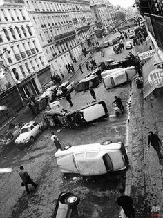 Student riots in Paris 1968. The first nationwide wildcat strike. Wow.