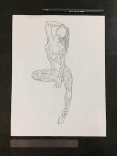 "Original drawing #108 - Perfect Deconstruction Figure 2 $100.00 By: Sean Martorana 8.5"" x 11"" Original graphite drawing on paper"
