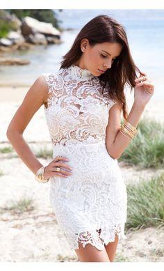 #SummerFashion #CasualDress #Lace #WhiteDress