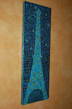 Tour de Eiffel Stained glass, Mosaic art piece, for your Parisian honeymoon, Wedding Gift