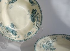 Soup plates Sarreguemines  Bowl French by FrenchTouchBoutique, $39.90