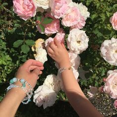 Stop and smell the roses Mommy And Me, Roses, Gems, Crown, Jewellery, Corona, Jewelery, Pink, Rhinestones