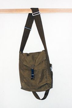 Vintage Military BAG / Soviet Russian Bag in Khaki / by EUvintage, $17.00
