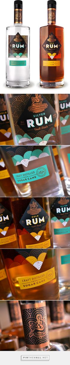 CopperMuse Distillery Rum Neck Label - designed by Emrich Office curated by Packaging Diva PD. More beautiful packaging work.