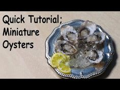 Quick/Easy; Miniature Oysters - Polymer Clay Tutorial - YouTube This amazing miniature was created by sugarcharmshop.