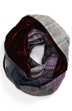 d28a6bb1031 Nordstrom  Abstract  Velvet Infinity Scarf available at  Nordstrom Shopping  Spree