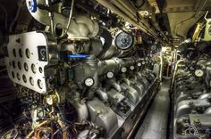 Ship's engine room