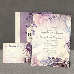 Antique Charm - Lavender - Invitationhttp://www.invitationsbydawn.com/Wedding-Invitations/Vintage-Wedding-Invitations/2657-DW25824FCLV-Antique-Charm--Lavender--Invitation.pro