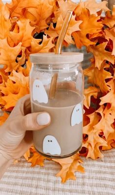 Glass jar mug for coffee #LTKhome #LTKSeasonal #LTKunder50