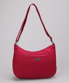 Take a look at this Cranberry Charm Crossbody Bag by baggallini on #zulily today!