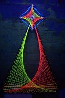 3D Psychedelic UV String art by ~happiehippiezdeco on deviantART