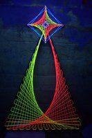 3D Psychedelic UV String art by ~happiehippiezdeco on deviantART