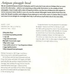 Antiguan pineapple bread