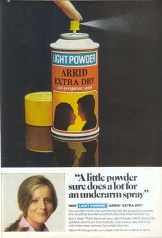 1970's Arrid Extra Dry Deodorant ~ And try NOT to breathe that awful spray!
