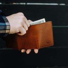Impressive collection of handcrafted and vintage inspired men's leather wallets. Bison leather waxed canvas and traditional full grain leather. Built to last. Best Gifts For Men, Gifts For Him, Full Grain Leather Wallet, Best Bridesmaid Gifts, Passport Travel, Travel Bags, Leather Passport Wallet, Leather Accessories, Travel Accessories