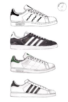 Good Objects - Adidas Sneakers watercolor illustration