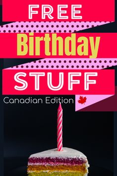 Get some free stuff on your birthday month! Check out all the different free discounts you can get Canada! Free Stuff Canada, Get Free Stuff, Fun Stuff, Birthday Rewards, Birthday Freebies, Birthday Month, Girl Birthday, Free On Your Birthday, Canada Birthday