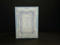 This card is made using Sue Wilson dies