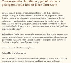 Causas sociales, familiares y genéticas de la psicopatía. #Hare Texto completo en http://sobreviviendoasociopatasynarcisistas.blogspot.com.ar/2015/03/causas-sociales-familiares-y-geneticas.html
