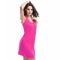 54d20351775ce Vintage High Halter V-neck Elastic Female Beachwear Dress 11 Colors Rose