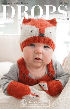 Ravelry: b Baby Fox Mittens pattern by DROPS design Baby Knitting Patterns, Free Knitting, Crochet Patterns, Drops Design, Fox Pattern, Mittens Pattern, The Mitten, Knitted Baby Outfits, Hat Patterns