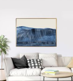 3 Piece Wall Art, Canvas Wall Art, Large Art, Large Wall Art, Aspen, Azul Indigo, Indigo Blue, Geometric Shapes Art, Bedroom Wall Designs