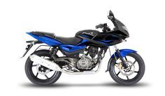 Bajaj Pulsar. Most popular bike in India and comes in range of engine sizes / market segments. Retro racer base
