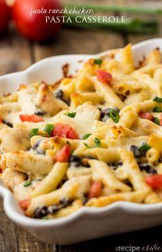 Fiesta Ranch Chicken Pasta Casserole Recipe