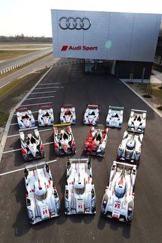 The 13 winning Audi Le Man's cars!