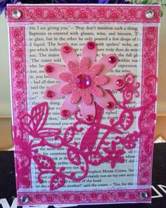 Pink Flowers, Awesome, Unique Jewelry, Handmade Gifts, Frame, Cards, Etsy, Vintage, Kid Craft Gifts