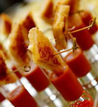 OMG....mini grilled cheeses with tomato soup shooters?!?! LOVE THIS IDEA