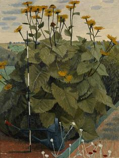 Charles Mahoney (1903-1968) - Marguerites jaunes.