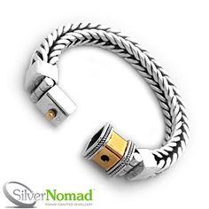 Silver Nomad Jewellery - 925 Sterling Silver Nomad Square Link Snake Bracelet, �449.00 (http://www.silvernomad.co.uk/925-sterling-silver-nomad-square-link-snake-bracelet/)