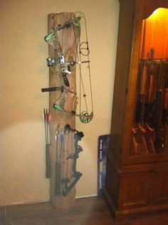 As a bow hunter, you know the importance of choosing the right bow. There are a number of bows on the market. There are also plenty of accessories that go with them. Bow Rack, Bow Hanger, Archery Hunting Bowhunting, Crossbow Hunting, Tinkerbell, Reloading Room, Bow Display, Homemade Bows, Crossbow Arrows