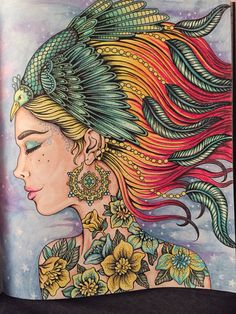 The feathered princess from Sommarnatt by Hanna Karlzon. Colored by Marielle Nilsson