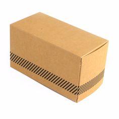 Caja con solapas 16x8x8cm - Kraft Diagonales