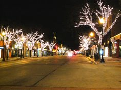 Oakville downtown- used to live here. Oakville Ontario, Greater Toronto Area, Back Road, Tree Lighting, Gta, Google Images, Childhood Memories, Places Ive Been, The Neighbourhood