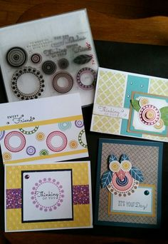 Circle stamps on cards