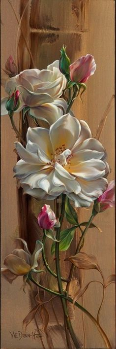 Vie Dunn Harr Flower Art found her artistic expression slowly, yet deliberately, and continues to explore the many Art Floral, Art Amour, Botanical Art, Beautiful Paintings, Love Art, Painting Inspiration, Painting & Drawing, Amazing Art, Awesome