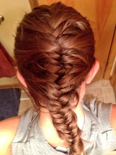 I finally mastered the French fishtail!