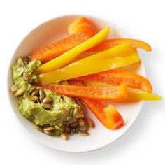 Guacamole with Bell Pepper Dippers - EatingWell.com