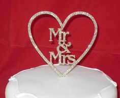 Mr & Mrs cake toppers S x