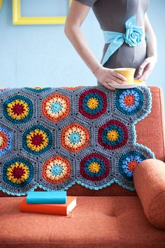 Your Great-Grandma's 'Ghan pattern with charts. Tutorial for the the Granny Ghan hex can be found here http://www.crochettoday.com/how-to/how-make-granny-ghan-motif