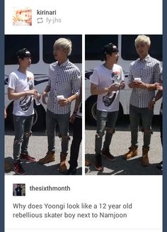 Leader Mon is tall. Das why. But I'm not sayin' that Suga is short. Lels. XD