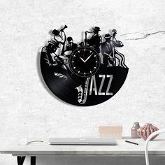 Jazz Vinyl Clock, Jazz Wall Clock, Best Gift for Jazz Music Lover, Original Wall Home Decor Vinyl Record Clock, Vinyl Records, Vinyl Gifts, Jazz Music, Music Lovers, Gift Guide, Best Gifts, Gifts For Her, Wall Decor