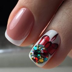 50 Beautiful Stylish and Trendy Nail Art Designs for Christmas Xmas Nails, Holiday Nails, Christmas Nails, Holiday Nail Designs, Nail Art Designs, Hello Nails, Nail Art Noel, Art Simple, Uñas Fashion