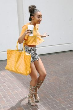 Leigh-Anne heading to a meeting in Los Angeles, CA - August 6, 2015