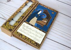 Nativity Card Religious Christmas card Paper by BellaBoutique23